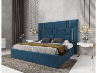 Modrest Adonis - Modern Blue Fabric Bed