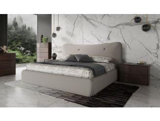 Modrest Alessia - Italian Modern Light Grey Upholstered Bed
