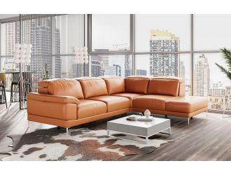 Accenti Italia New York - Modern Cognac Leather RAF Sectional Sofa