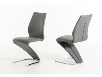 Penn Modern Grey Leatherette Dining Chair (Set of 2)