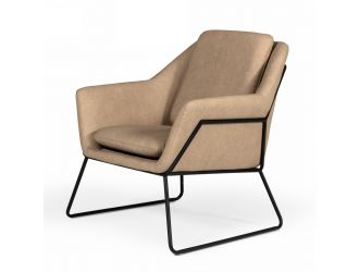 Modrest Jennifer - Industrial Taupe Eco-Leather Accent Chair