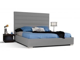 Modrest Kasia Modern Grey Leatherette Bed
