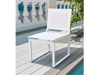 Renava Kayak - Modern Outdoor White Dining Chair (Set of 2)