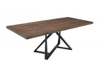 Modrest Keanna - Modern Industrial Walnut & Black Dining Table