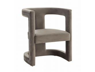 Modrest Kendra - Modern Grey Fabric Accent Chair