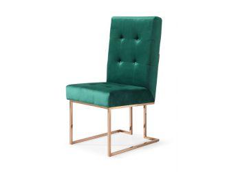 Modrest Legend Modern Green Velvet & Rosegold Dining Chair (Set of 2)