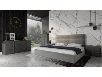Nova Domus Juliana - Italian Modern Dark Grey Upholstered Bed