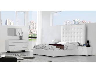 Modrest Lyrica Modern White Bedroom Set