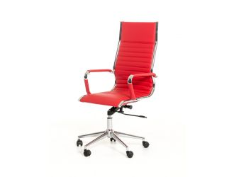 Modrest Madison Modern Red Leatherette Office Chair