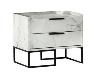 Nova Domus Marbella - Italian Modern White Marble Nightstand