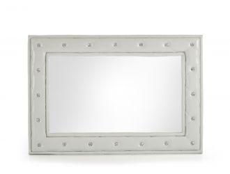 Modrest Melody Modern White w/ Crystals Mirror