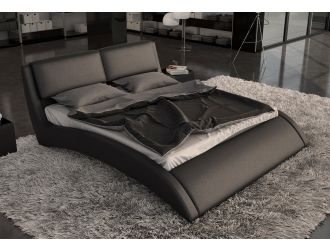 Volo Modern Eco-Leather Bed w/ Curves