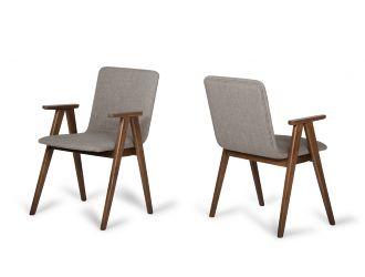 Maddox - Modern Sesame & Walnut Dining Chair (Set of 2)