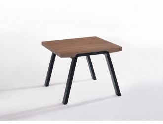 Modrest Rhett Mid-Century Walnut & Black End Table