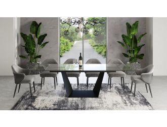 Modrest Bronwin - Modern Black Ceramic Extendable Dining Table