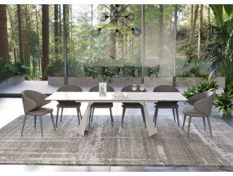 Modrest Encanto - Modern White Ceramic Dining Table