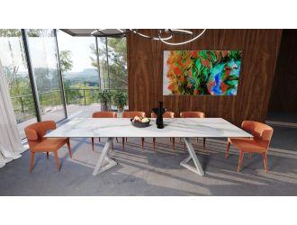 Modrest Farrell - Modern White Ceramic Extendable Dining Table