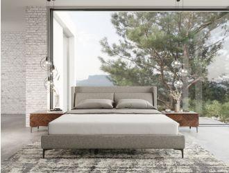 Modrest Paula - Mid-Century Grey Upholstered Bed