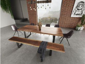 Modrest Taylor - Large Modern Live Edge Wood Dining Bench