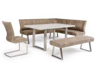 Modrest Monty Modern Stone Grey Extendable Dining Table