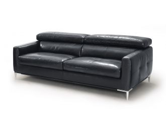 Divani Casa Natalia - Modern Black Leather Sofa