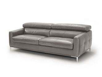 Divani Casa Natalia - Modern Dark Grey Leather Sofa