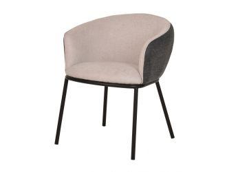 Modrest Nillie - Modern Beige & Grey Dining Armchair