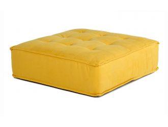 Divani Casa Nolden - Waterproof Yellow Fabric Ottoman
