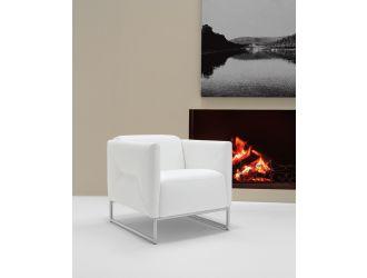 Estro Salotti Odessa Modern White Accent Chair