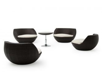 Renava Ovum Outdoor Brown Seating Set