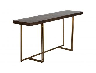 Modrest Patty - Mid-century Acacia & Brass Console Table