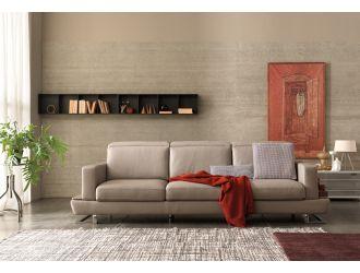 Estro Salotti Pegaso Modern Taupe Leather Sofa Set