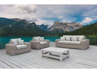 Renava Portugal - Outdoor Beige Wicker Sofa Set