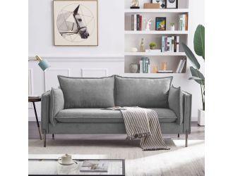 Divani Casa Randolf - Modern Grey Loveseat