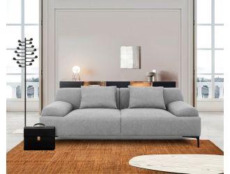 Divani Casa Ronny - Modern Grey Loveseat