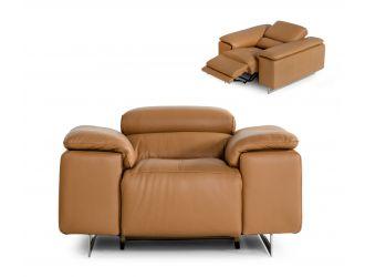 Estro Salotti Blossom Modern Cognac Leather Recliner