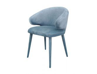 Modrest Salem - Modern Blue Grey Fabric Dining Chair