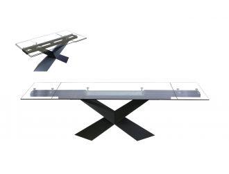 Modrest Scott - Modern Extendable Glass Dining Table