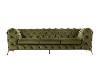 Divani Casa Sheila - Transitional Green Fabric Sofa