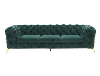 Divani Casa Sheila - Transitional Emerald Green Fabric Sofa