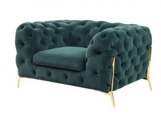 Divani Casa Sheila - Transitional Emerald Green Fabric Chair