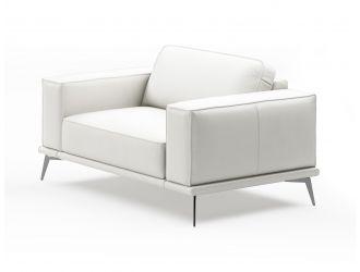 Coronelli Collezioni Soho - Contemporary Italian White Leather Armchair