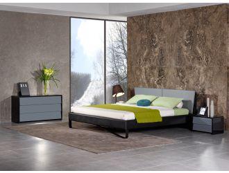 Nova Domus Stone Modern Grey & Black Bed