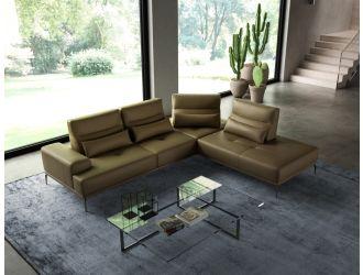 Coronelli Collezioni Sunset - Contemporary Italian Kiwi Leather Right Facing Sectional Sofa