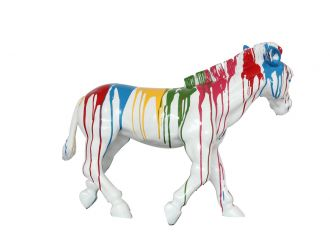 Modrest Rainbow Zebra Modern Sculpture