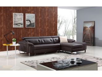 Divani Casa T736 Modern Brown Leather Sectional Sofa