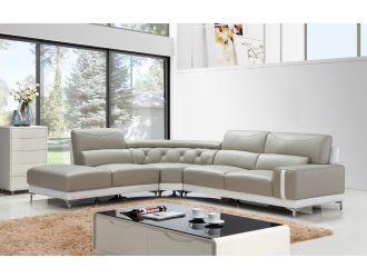 Divani Casa T739 Modern Grey & White Leather Sectional Sofa