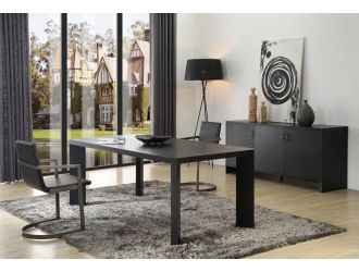 Modrest Wales Modern Smoked Ash Dining Table