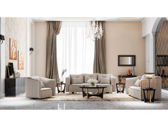 A&X Talin Modern Beige Fabric Sofa Set