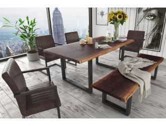 Modrest Taylor Modern Live Edge Wood Dining Table
